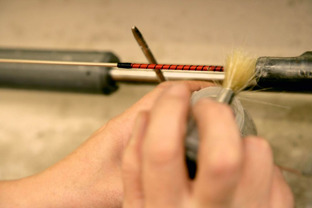 Strings are largely made by hand, even in Germany!
